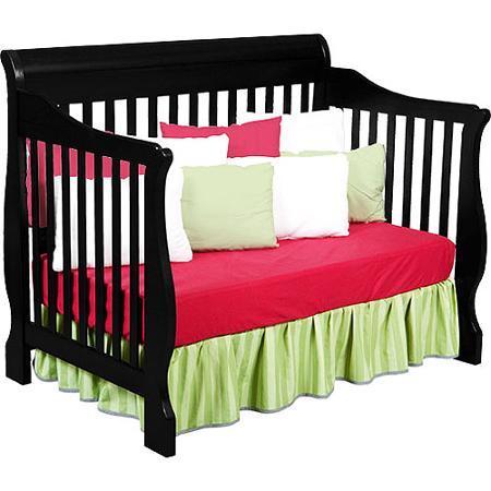 4 In 1 Convertible Baby Crib Baby Nursery Furniture Black Cribs
