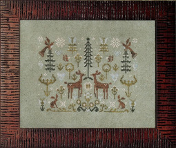 Spring Snow cross stitch chart Ink Circles  - $7.20