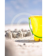'Beach Sandcastle' Fine Art Print - 8x10 print matted to 11x14 - $25.99