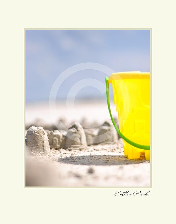 'Beach Sandcastle' Fine Art Print - 8x10 print matted to 11x14