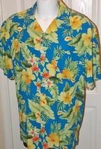 Island Republic Size 2XL 100% Silk Short Sleeve Tropical Resort Beach Shirt - $13.36