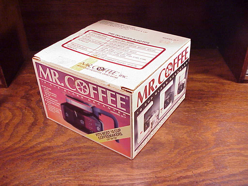 Mr. Coffee 10 Cup Glass Decanter Carafe, model D-7
