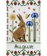 August Holmsey Hare Year Of The Hare cross stitch chart Stitchers Anon D... - $8.00