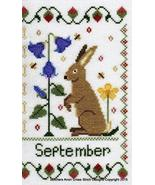 September Holmsey Hare Year Of The Hare cross stitch chart Stitchers Ano... - $8.00