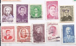 Philippine Stamps 10 Philippine Greats - $0.99