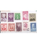 PHILIPPINE stamps 10 Philippine Greats - $1.95