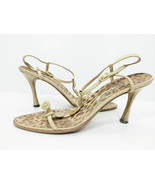 Manolo Blahnik Strappy Purita Leopardino Leather Sandals, sz. 9.5 MSRP $725 - $96.03