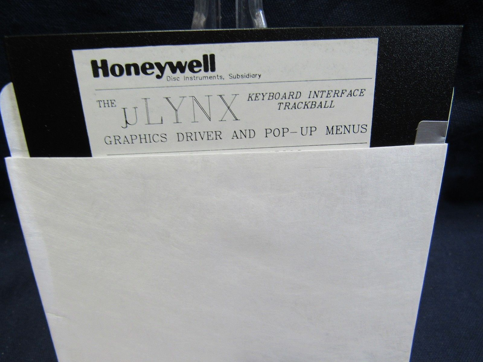Honeywell uLYNX User Guide & Software Graphics Driver Pop-up Menus for Trackball