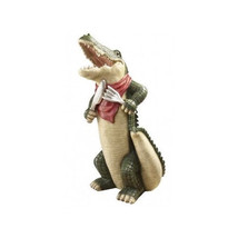 Restaurant Gourmet Statue Resin Animal Sculpture Gator Vintage Bussiness... - $142.49