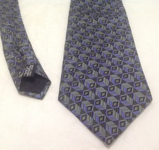 """Geoffrey Beene Necktie, 4""""x60"""", 100% Silk, Blue/Green - $23.99"""