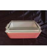 Vintage Pink Pyrex Covered Dish  0503  1 1/2 Quart   - $40.00