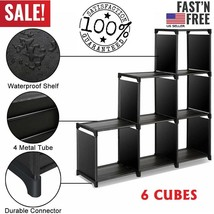 6Cube Storage Organizer Cabinet Drawers Shelves Cubicle for Toy Book Sho... - $561,34 MXN