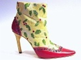 Deck the Heels Christmas Holly & Red Rhinestones Member Only Just the Ri... - $129.99