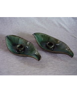 Pair of Vintage Blue Mountain Pottery Candle Candlestick Holders Canada - $26.00