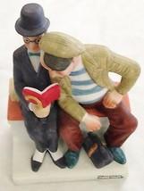 "Norman Rockwell HUMOR 6"" THE INTERLOPER Men w Book Danbury Mint Figurine  - $36.06"