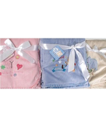 Super Soft Snugly Baby Fleece Receiving Blanket: Choose Blue, Pink or Beige - $14.99