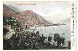 Italy Menaggio Lago di Como Lake Como Panoramic View Vintage 1908 Postcard - $4.99