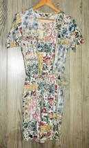 Vintage 80s Romper S Playsuit One Piece Floral Shorts Festival Small by ... - $25.00