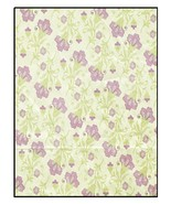 Always And Forever Floral Print Purple Green-Di... - $3.00