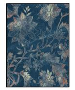 Autumn Blues Blue Fabric-Digital clipart-Flowers  - $3.00
