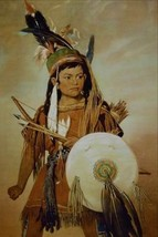 12X16 inch George Catlin American Canvas Art RePro Indian Boy - $19.58