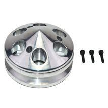 GM SBC SINGLE-GROOVE ALUMINUM ALTERNATOR PULLEY WITH NOSE CONE COVER 283 350 400 image 5