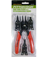 Snap Ring Pliers with 4 Interchangeable Heads Pittsburgh - $7.46