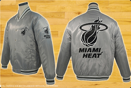 JH Design NBA Miami Heat Lightweight Satin Jacket  - $84.95
