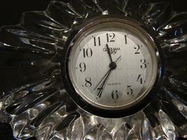Gorham Accent Collection Somerset Clock - Full Lead Crystal - $5.99