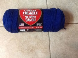 1-SKEIN-Red Heart, Royal Blue, ART. E 300, 7oz, Worsted 4 Ply - $4.46