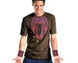 THE AMAZING SPIDER MAN Adult Men's HALLOWEEN Costume SHIRT & 2 Web Shooters