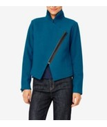 KATE SPADE Saturday SAPPHIRE Short WOOL Blend COAT Zip-Over JACKET *Rare* - $197.95