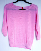 H&M DIVIDED Sweater Eyelet Shirt Top Light Pink Cotton Size 4 - $19.75