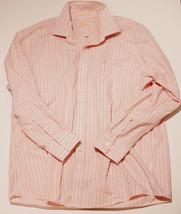 MICHAEL Michael Kors Long Sleeve DRESS SHIRT Light Orange Brown PLAID CH... - €25,21 EUR