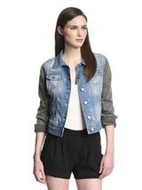 W118 by Walter Baker DENIM Jeans JACKET Grayson BLUE Black S $188 Free S... - $108.85