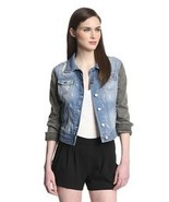 W118 by Walter Baker DENIM Jeans JACKET Grayson BLUE Black S $188 Free S... - $2.087,84 MXN