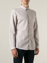 MICHAEL KORS Slim Fit MICROCHECK Dress Shirt COTTON XXL $145 Free Shipping - €84,14 EUR