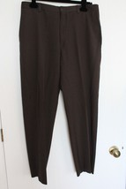 KENNETH COLE REACTION brown Dress Pants Wool Blend 34 x30 - $19.75