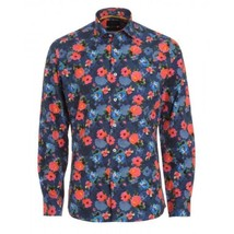 DUCHAMP LONDON Tailored Fit FLORAL Artists Impressions DRESS SHIRT Cotto... - $148.44