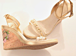 COACH Tattoo SANDALS Wedge FLOWER Ellette SHOES 10 FREE SHIPPING - $227.65