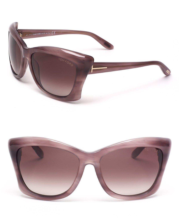 TOM FORD CAT`s EYE Sunglasses PURPLE TF280 83Z Violet LANA Box, Case & Cloth