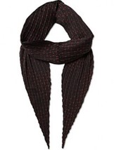 THE KOOPLES PLEATED MICROSTARS BLACK RED DESIGNER SCARF AHE801 FREE SHIP... - ₹5,631.03 INR