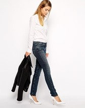 MIH JEANS BREATHLESS RAIL LOW RISE SKINNY LEG STRETCH DENIM WORN EFFECT ... - $98.95