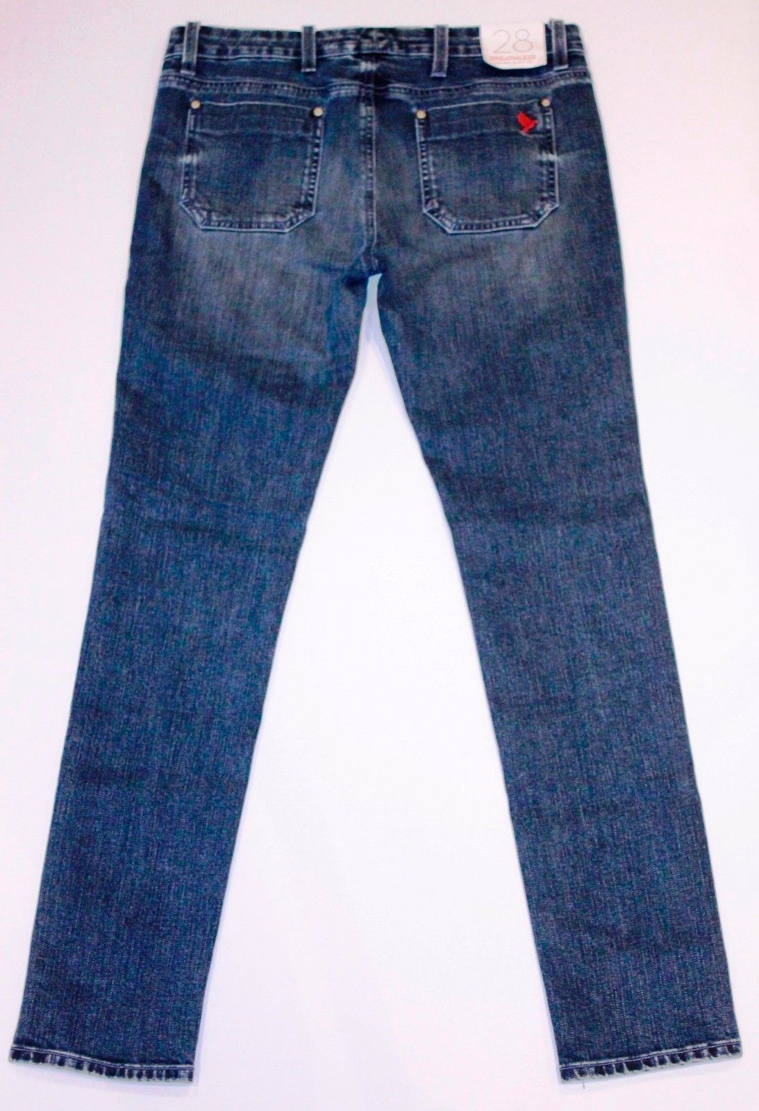 MIH JEANS BREATHLESS RAIL LOW RISE SKINNY LEG STRETCH DENIM WORN EFFECT ITALY 28