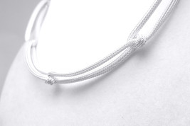 "Sterling Silver Mesh Knot Collar Necklace 13"" to 17"" - $59.00"