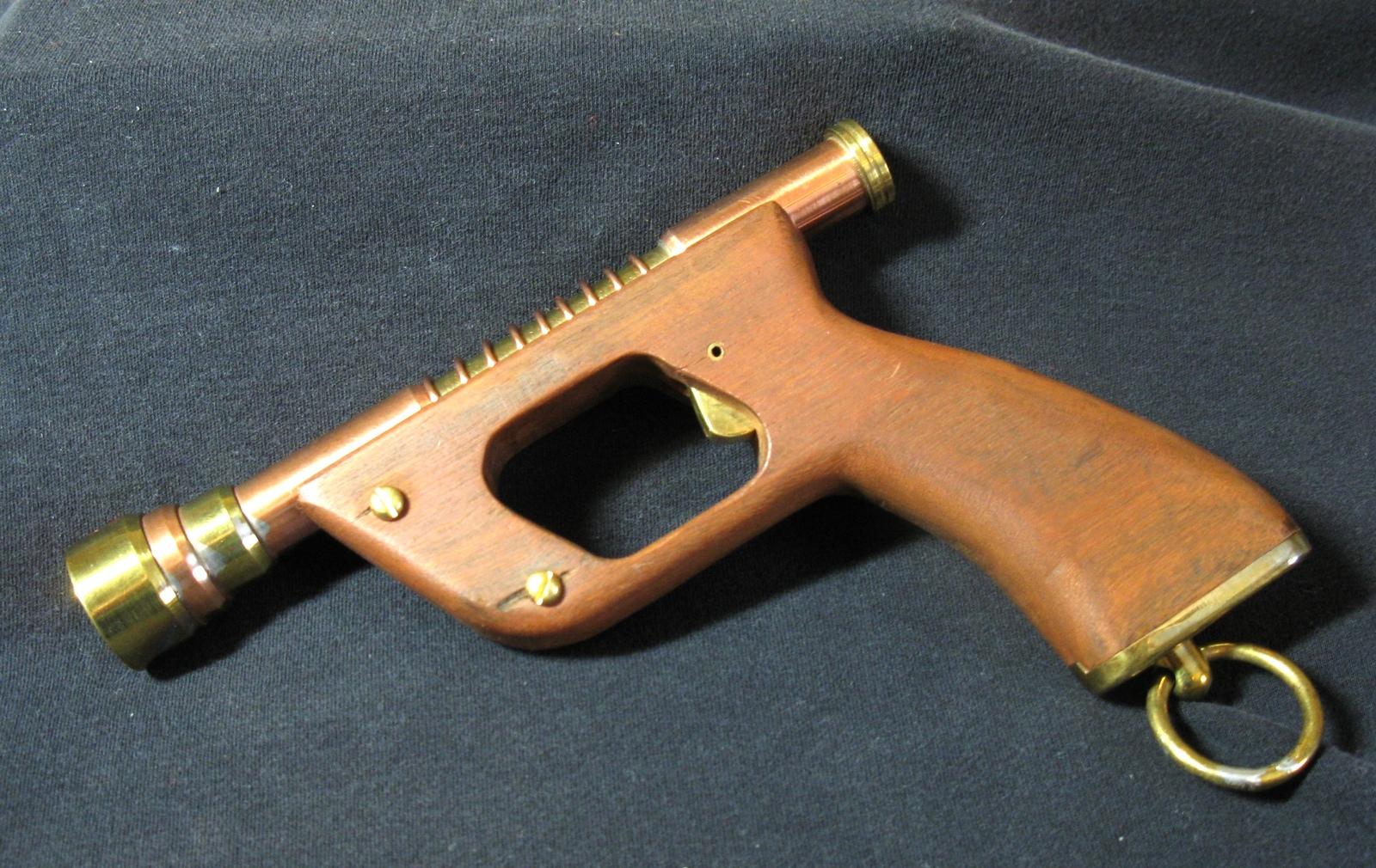 Handmade Steampunk Ladies' Brass Copper Victorian Cosplay Prop Pistol