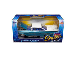 "1959 Chevrolet Impala Blue ""Lowrider Series\"" Street Low 1/24 Diecast Model Car - $36.94"