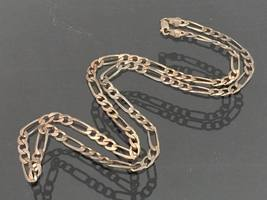 Vintage Italian Sterling Silver FIGARO Link Chain Necklace 24'' Length - $60.00