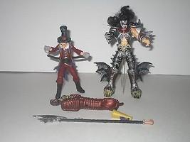 McFarlane Toys 1998 Kiss Psycho Circus Gene Simmons/The Ring Master Figures - $12.86