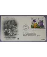 First Day Cover- Garden Flowers Irsi and Lilac - $8.00